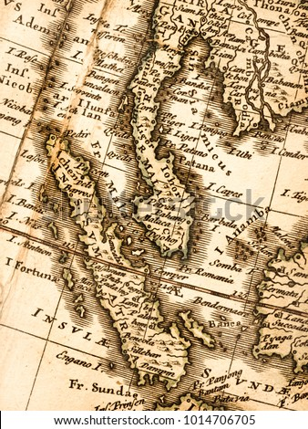 Old Map of the Malay Peninsula #1014706705