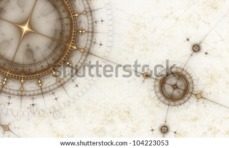 old map with compass  abstract...