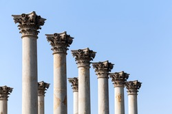 Old marble columns from Capitol building in National Arboretum in Washington DC