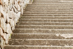 Old marching stairs with close-up. As a background.