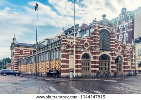 Old Market Hall, Vanha kauppahalli in the center of Helsinki, Finland #1044347815