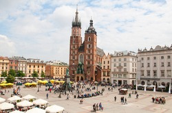 Old market in Cracow, Poland