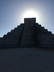 Old Maya ruins in mexico