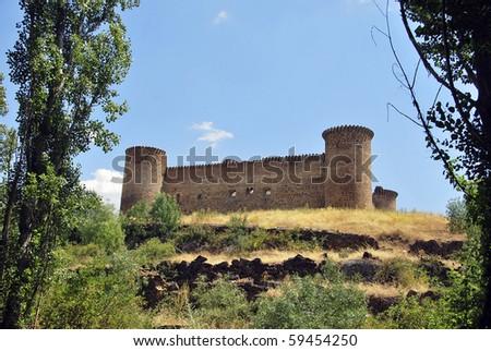 Old medieval castle in Barco de Avila. Avila. Spain Stock photo ©