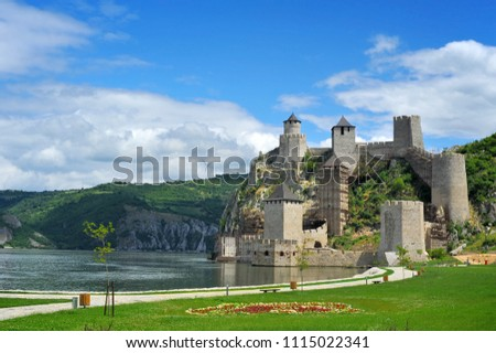 Old medieval fortification Golubac, Serbia #1115022341