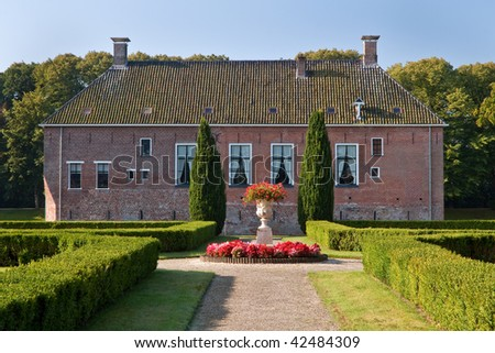Old medieval mansion with huge garden in the Netherlands