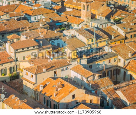 old medieval roman city from...