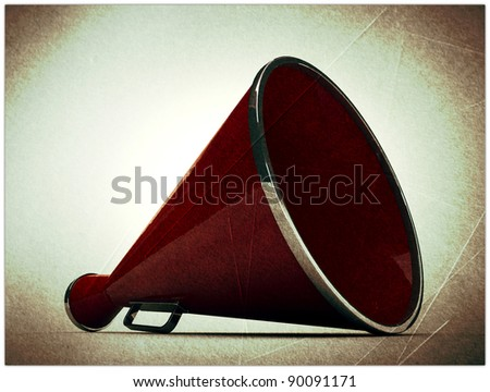 old megaphone in grunge photo