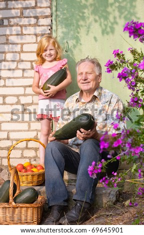old men and girl outdoor