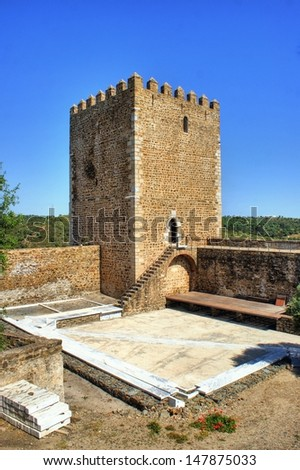 Old Mertola castle in Alentejo, Portugal