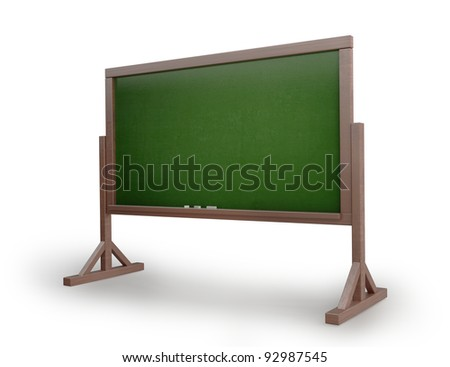 Old messy blank blackboard isolated on white background High resolution 3D