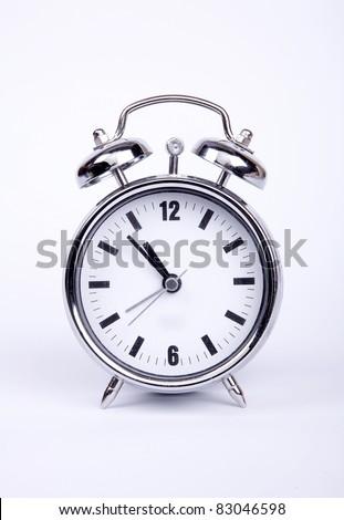 Old metal alarm clock.