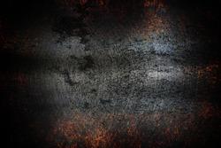 Old metal background, black metal