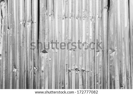 Old metal corrugated