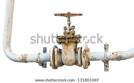 old metal pipe with valve