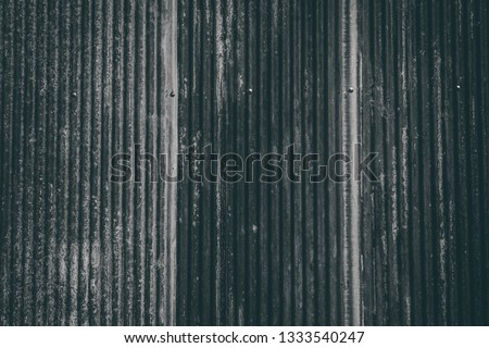 Old metal sheet roof texture. Pattern of old metal sheet. Metal sheet texture. Rusty metal sheet texture. black and white