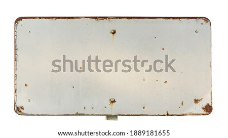 Old metal signs Rust, sun-dried, sifted paint  It's a frame with an empty space inside of your message. isolated on white background with outside path.    Сток-фото ©