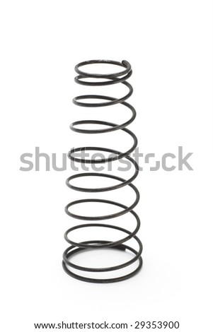 Old Metal Spring Sitting On White Background Stock Photo 29353900 ...