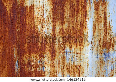 old metal wall background with rust