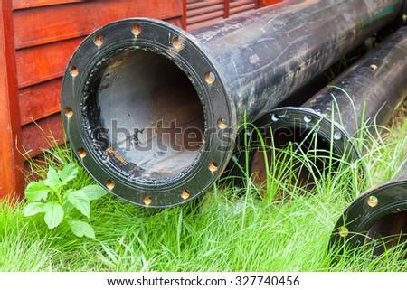 Old metal water pipe #327740456
