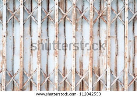 Old metallic door