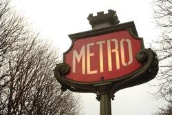 Old Metro sign in Paris