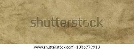 Old Military Army Faded Camouflage Fabric Backpack Or Bag Or Uniform Horizontal Background Or Rough Texture Close-up Top View