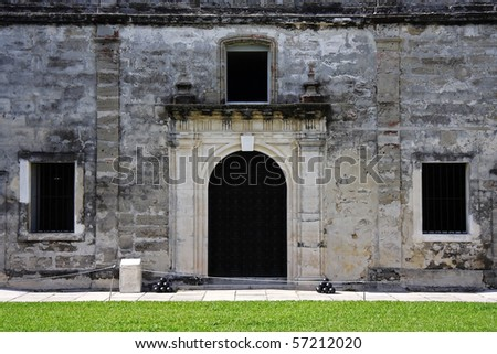 Old Military Chapel in Castillo de San Marcos, St. Augustine, Florida