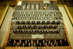 Old military cipher machine