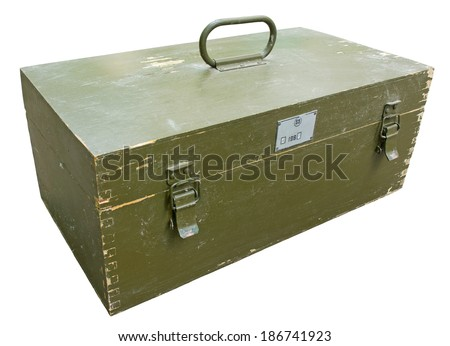 Old military crate. Clipping path included.