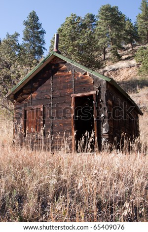 Old Mining Cabin in Mountains of Colorado