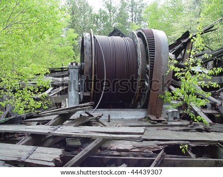 Old Mining Hoist Cable