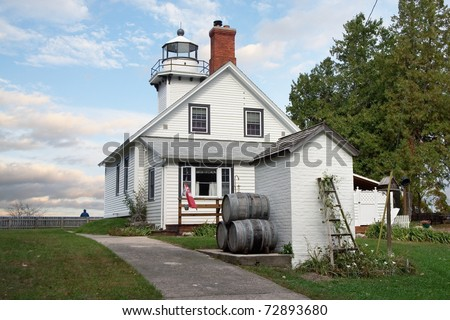 Old Mission Point Lighthouse, Traverse Bay, Michigan, USA