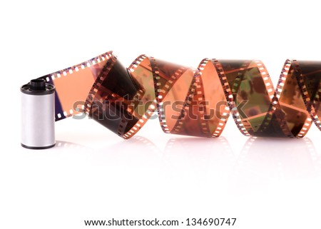 Old 35 mm negative film strip