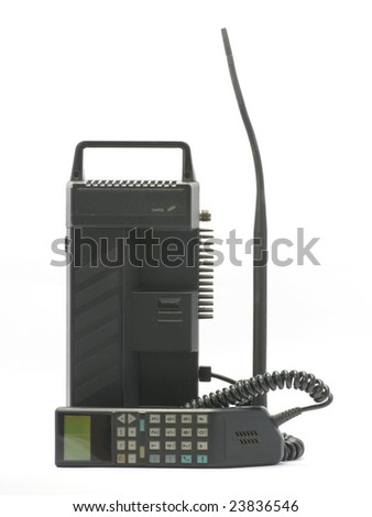 old mobile phone isolated on the white background