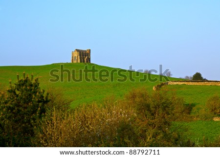Old monastery near village of West Chaldon in south England