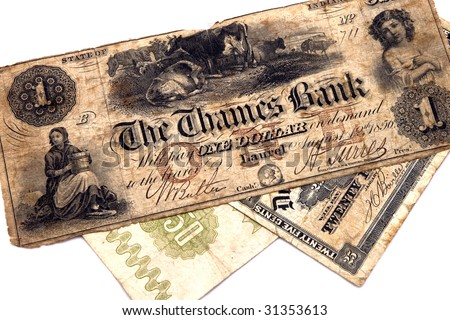 Old Money Notes Old Money Bank Notes