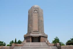 Old Monument in the old city Ganja, Azerbaijan Nizami Mausoleum