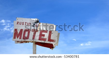 Old motel sign in California's Mojave Desert.