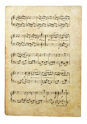 old musical note' page
