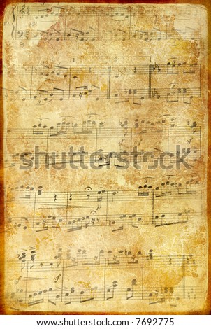 old musical page