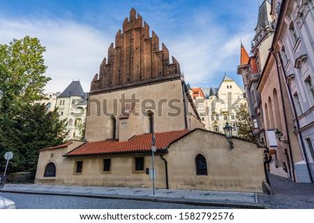 Old New Synagogue or Staronova synagoga on Maiselova street in Prague Czech Republic. Photo stock ©