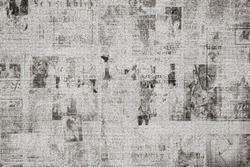 OLD NEWSPAPER BACKGROUND, DARK GRUNGE PAPER TEXTURE, TEXTURED PATTERN, VINTAGE DAILY PRESS, NEWSPRINT DESIGN