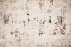 OLD NEWSPAPER BACKGROUND, GRUNGE PAPER TEXTURE, COVER TEXTURED PATTERN