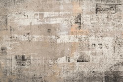 OLD NEWSPAPER BACKGROUND, GRUNGE PAPER TEXTURE, SCRATCHED WALLPAPER PATTERN