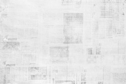OLD NEWSPAPER BACKGROUND, GRUNGY PAPER TEXTURE, BLACK AND WHITE NEWS PRINT PATTERN, WALLPAPER DESIGN WITH UNREADABLE TEXT
