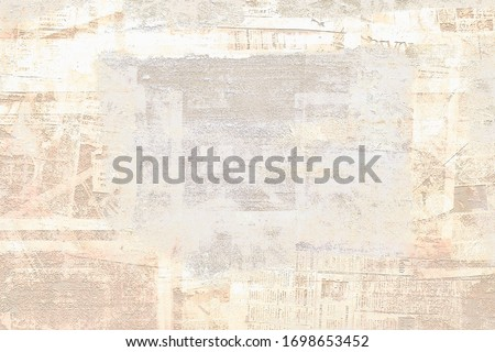 OLD NEWSPAPER BACKGROUND, SCRATCHED VINTAGE PAPER TEXTURE, WEATHERED TEXTURED OVERLAY PATTERN