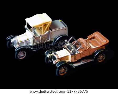 Old nostalgia toy cars Stok fotoğraf ©