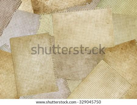 Old notebook pages. Vintage paper background