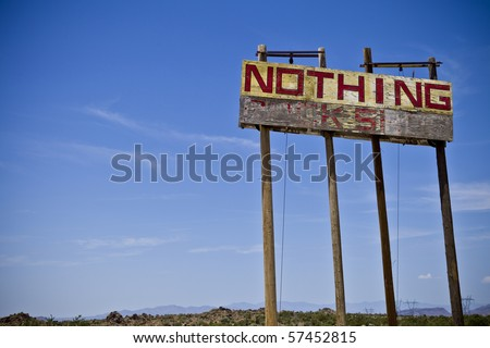 Old Nothing Sign